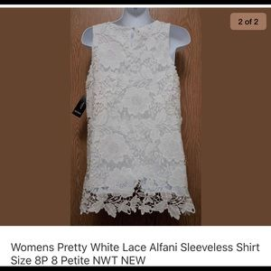 Alfani pretty lace shirt